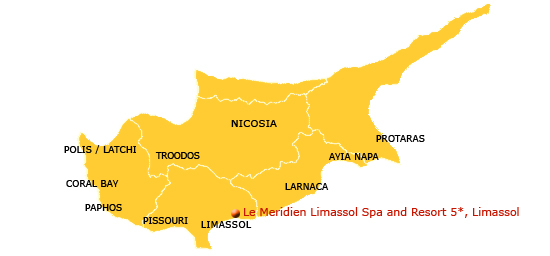 map of cyprus resorts. Spa and Resort Map